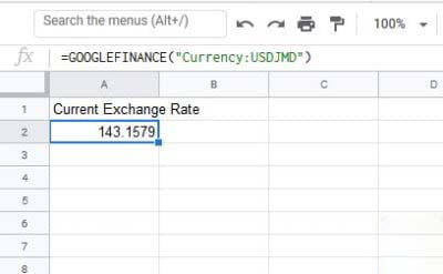 Google Sheets Currency Converter
