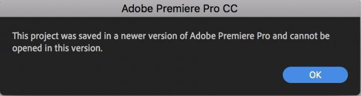 Cách mở Project Premiere trên phiên bản cũ hơn không cần Plugin