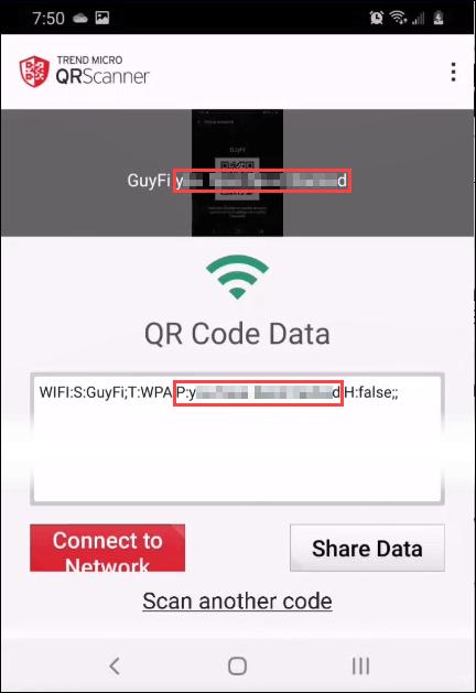 qr scanner password