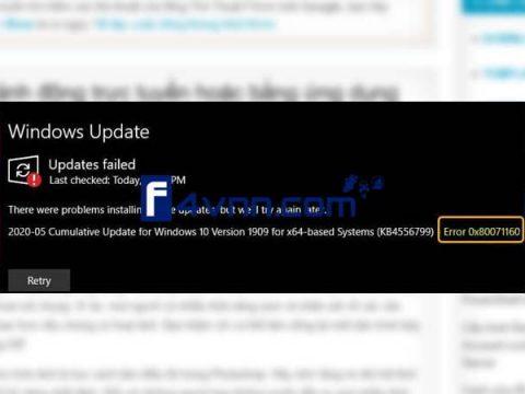 Windows Update error 0x80071160 thumbnail