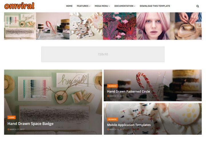 OmViral Template Blogger - Giao diện làm đẹp cho Blogger