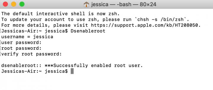 cach bat root user tren macos 2