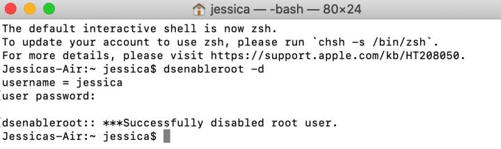 cach bat root user tren macos 3