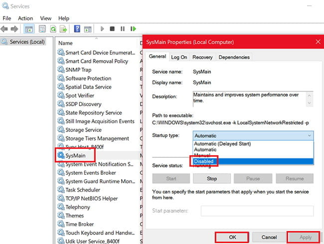 service host SysMain chiem nhieu cpu va ram tren windows 10 1
