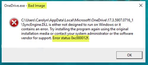 Cách sửa lỗi Bad Image 0xc000012f trong Windows 10