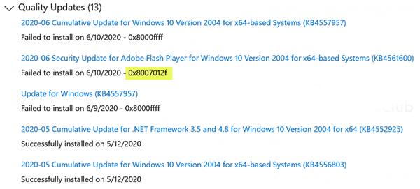 Cách sửa lỗi Windows Update 0x8007012f trên Windows 10