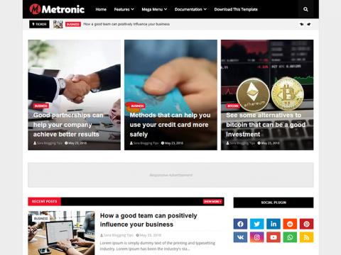 Metronic Blogger Template