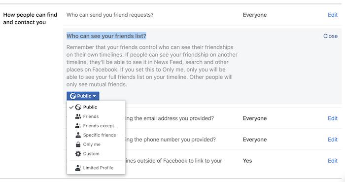 an danh sach ban be tren facebook 3