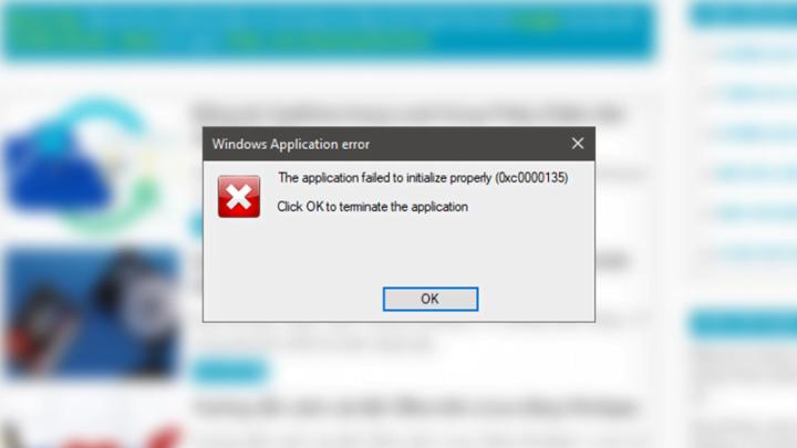 Sửa lỗi 0xc0000135 khi mở ứng dụng trên Windows 10