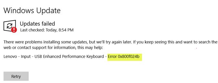Sửa lỗi Windows Update 0x800f024b trên Windows 10