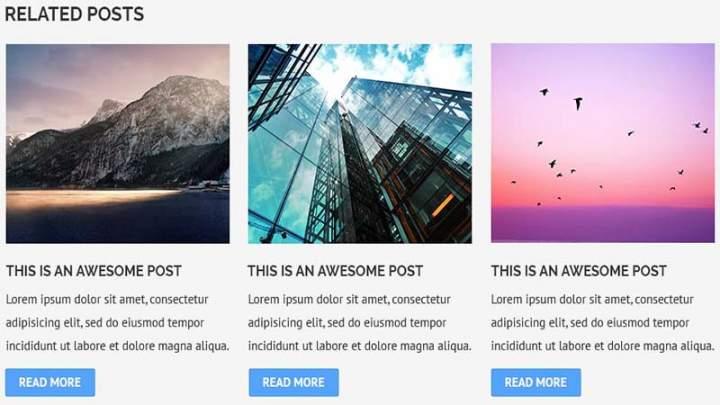 Bài viết liên quan kèm ảnh không cần Plugin cho WordPress