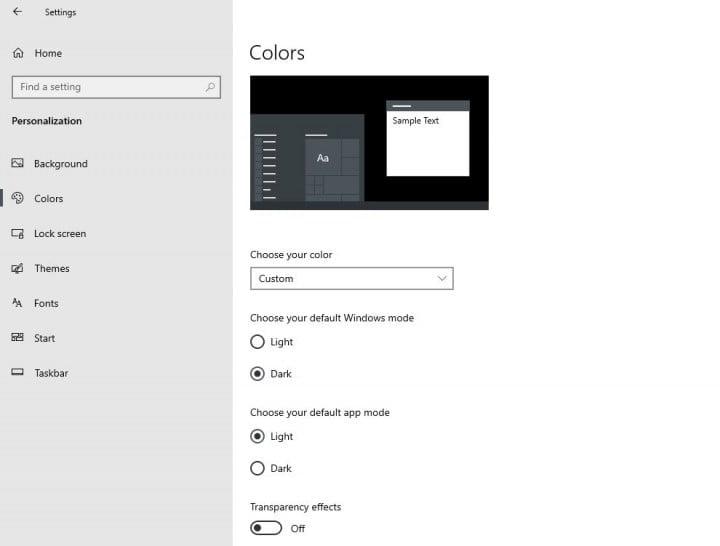 tao chu de toi cho start menu va tasbar windows 10 1