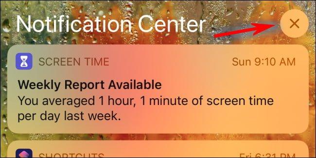 xem trung tam thong bao cho iphone ipad 2