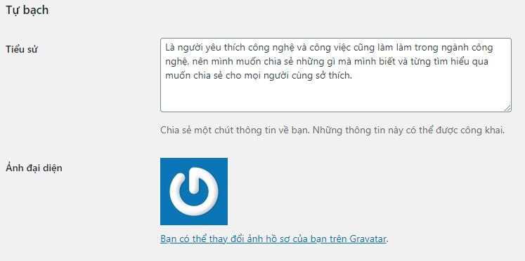 hien thi author bio khong can plugin cho wordpress 1