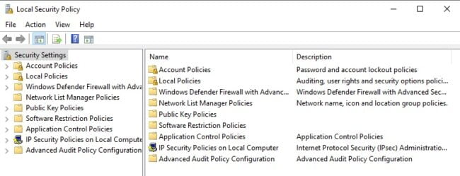 kich hoat Local Security Policy tren windows 10 home 1