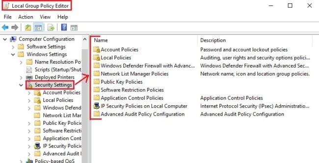 kich hoat Local Security Policy tren windows 10 home 2
