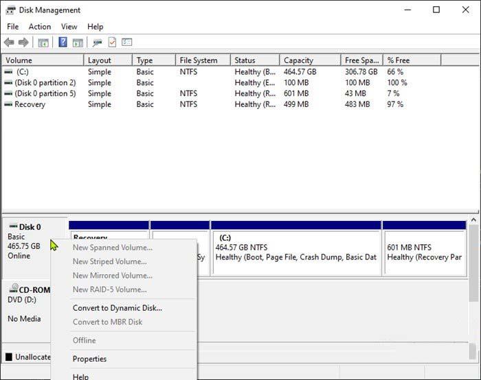sua loi System Restore could not find the offline boot volume tren windows 10 1