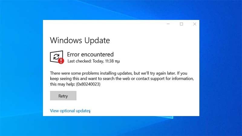 Sửa lỗi Windows Update báo lỗi 0x80240023 trên Windows 10