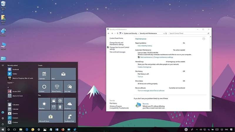 Cách cài đặt bảo trì tự động trên Windows 10