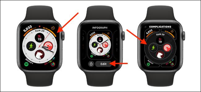 tao phim tat tren Apple Watch Face 2
