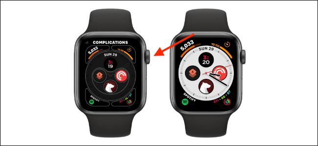 tao phim tat tren Apple Watch Face 4