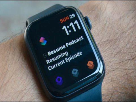 tao phim tat tren Apple Watch Face
