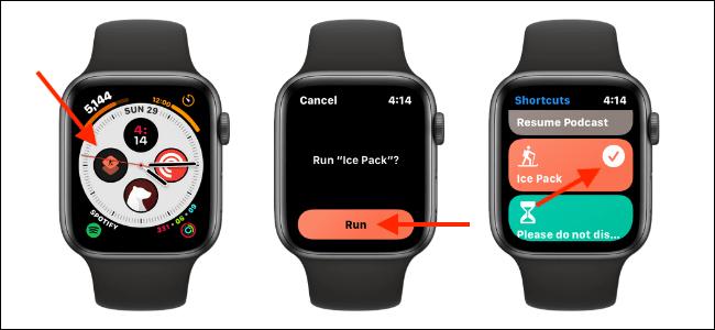 tao phim tat tren Apple Watch Face 5