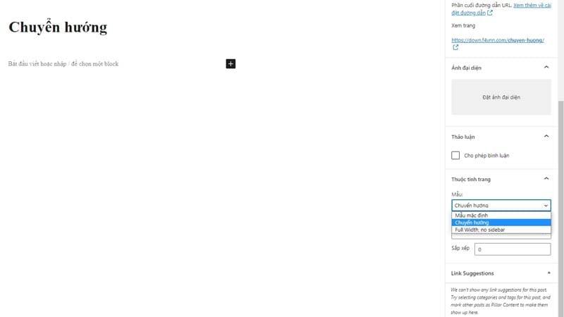 tao trang chuyen huong download cho wordpress 2