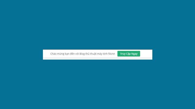 Tạo thanh thông báo bằng HTML và CSS cho WordPress
