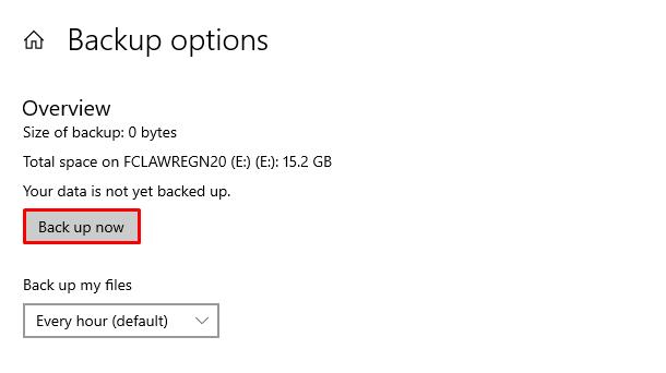 tu dong sao luu file tren windows 10 3