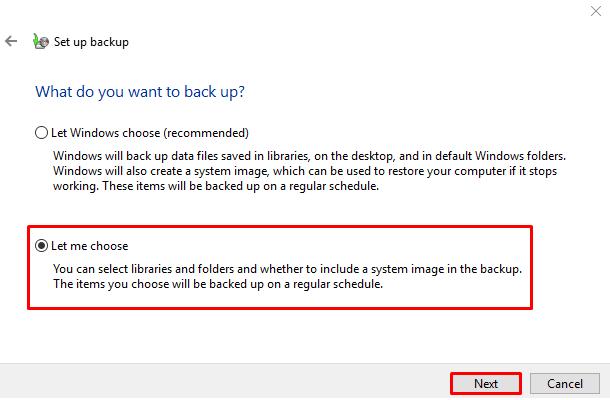 tu dong sao luu file tren windows 10 5