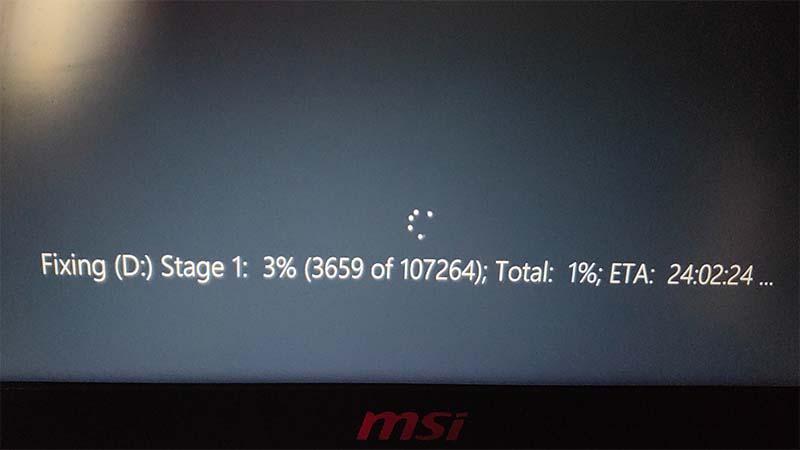 Làm thế nào để dừng Fixing Stage 1 trong Windows 10