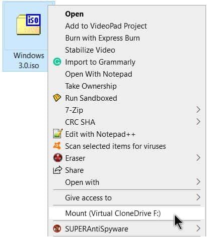 cach tai file bang Virtual CloneDrive 2