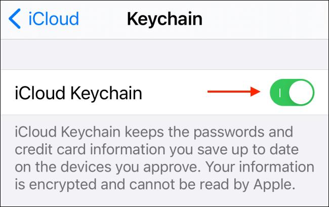 cach tat iCloud Keychain tren ios 3
