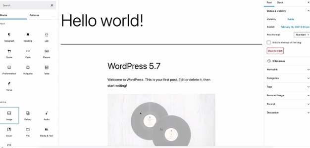 co gi moi trong phien ban wordpress 5 7 1