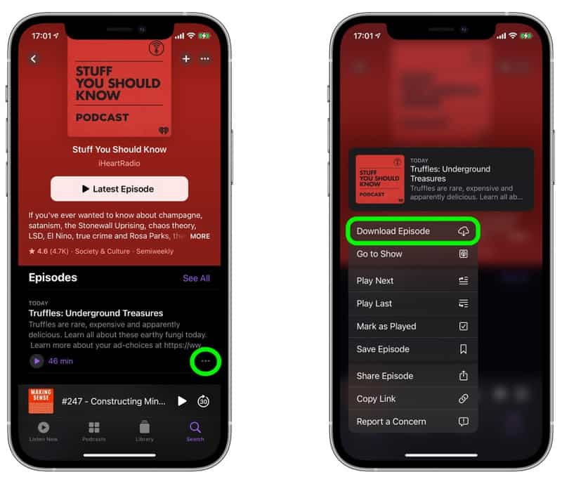 Auto Download Apple Podcasts iOS 14 5 4