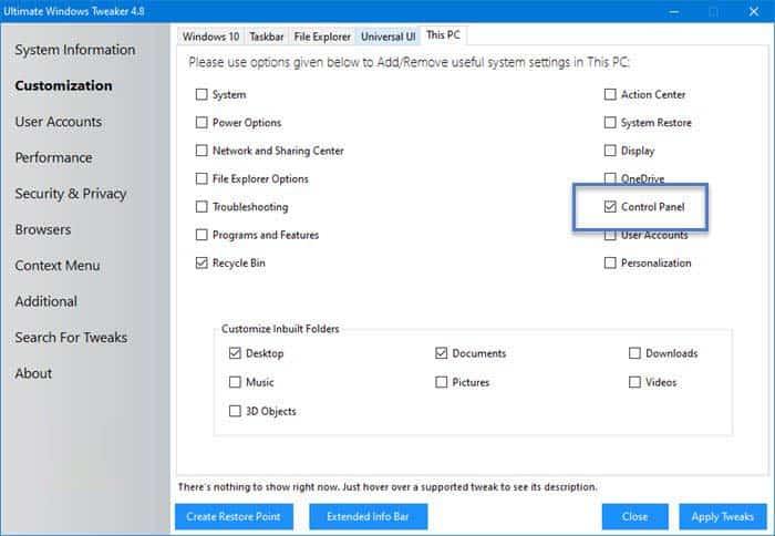 Them Control Panel Vao File Explorer Tren Windows 10 2