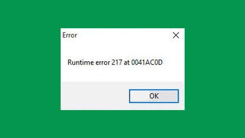 Hướng dẫn sửa lỗi Runtime Error 217 trên Windows 10
