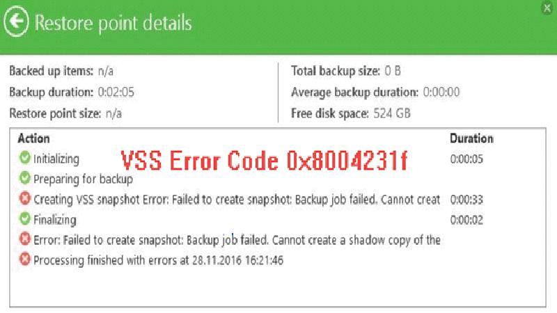 Hướng dẫn cách sửa lỗi VSS 0x8004231F trên Windows 10