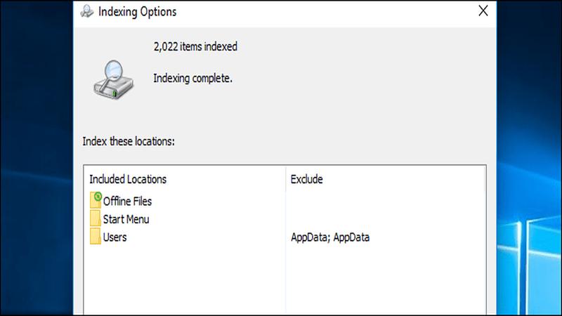 Cách tắt Windows Search Indexing Windows để tiết kiệm ổ cứng