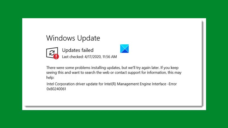 Hướng dẫn sửa lỗi 0x80240061 khi update Windows 10