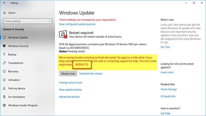 Hướng dẫn cách sửa lỗi 8024a112 khi cập nhật windows