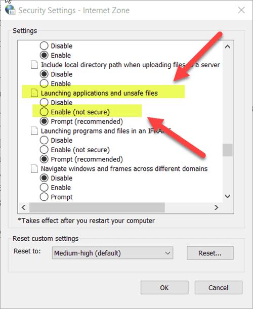 tat canh bao bao mat khi mo file tren windows 10 2