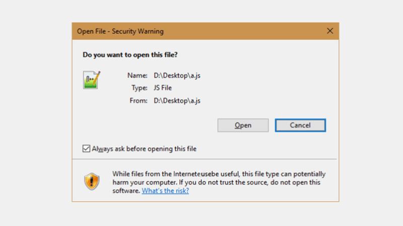 Hướng dẫn cách tắt cảnh báo bảo mật khi mở file trong Windows 10