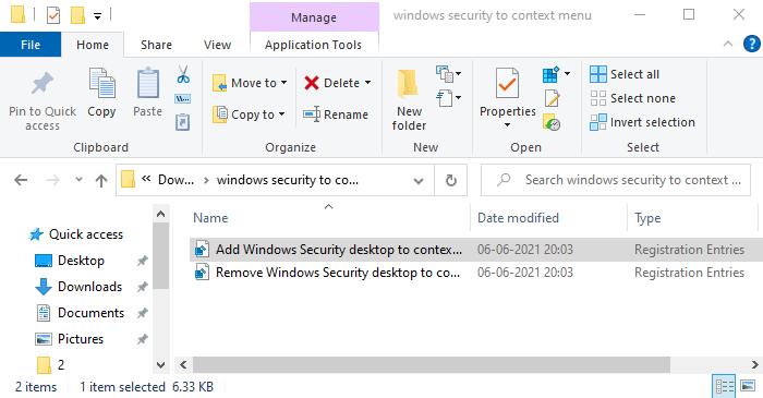 them windows security vao chuot phai windows 10 1