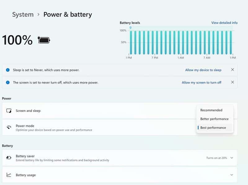 cach bat power mod tang hieu suat laptop tren windows 11 1