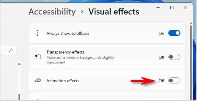 cach tat Animations tren windows 11 3