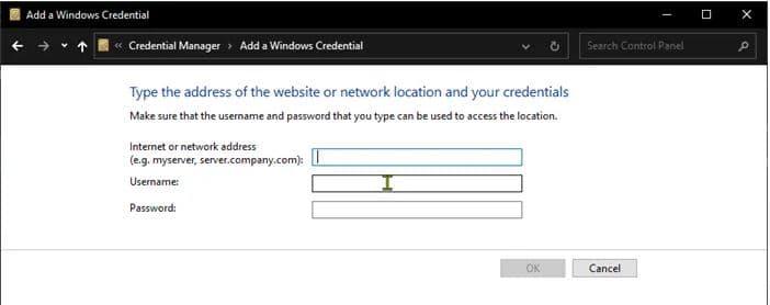 sua loi Enter network credentials tren windows 11 4