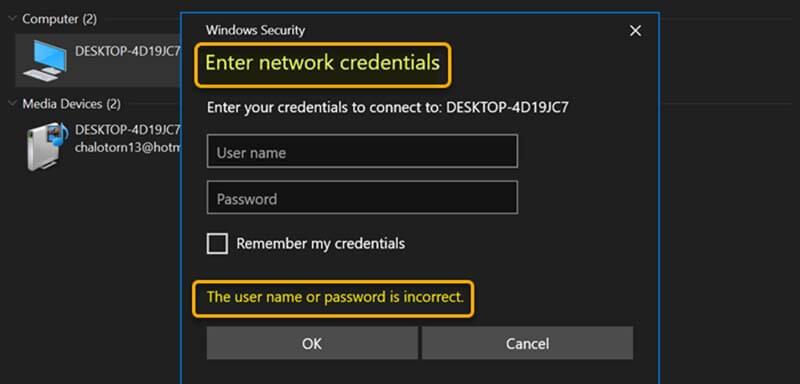 Hướng dẫn cách sửa lỗi Enter network credentials trên Windows 11