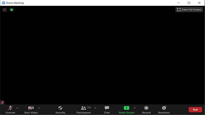 Hướng dẫn sửa lỗi màn hình đen khi tham gia hoặc chia sẻ màn hình trên Zoom